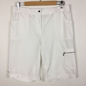 Chico's Zenergy Cargo Bermuda Shorts Size 1